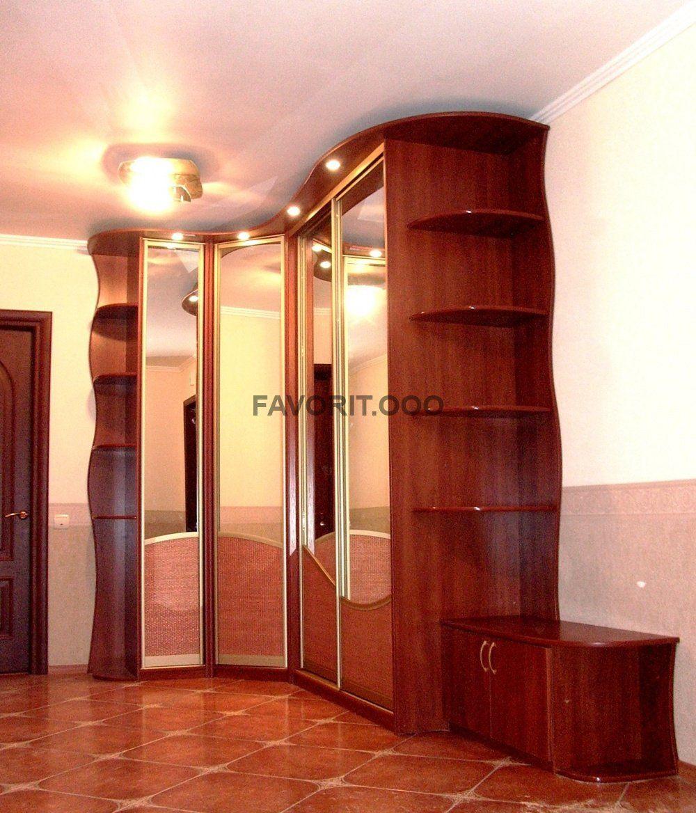 Комплект мебели для холла с радиусными секциями.