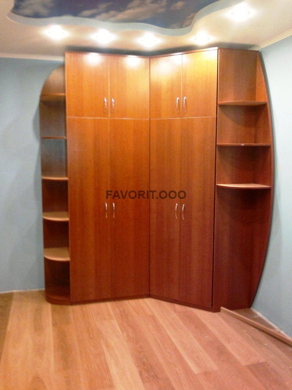 Угловой шкаф с радиусными секциями.