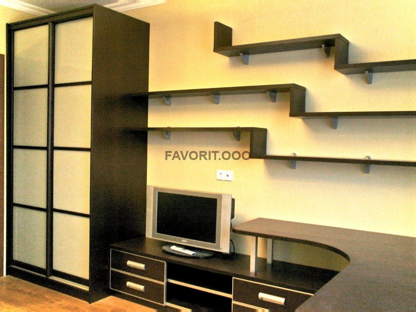 Стенка для гостиной со столом - мебель от производителя..